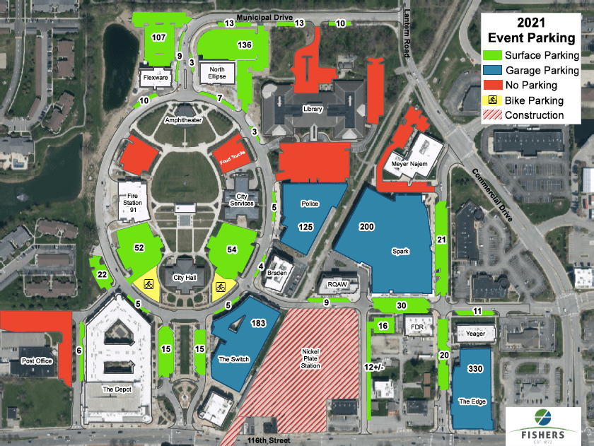 2021 event parking map